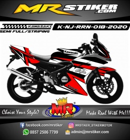 Stiker motor decal Kawasaki Ninja RR New Red Grafis Line Strip