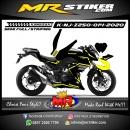 Stiker motor decal Kawasaki Ninja Z 250 Black Yellow Strip Line Grafis