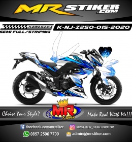 Stiker motor decal Kawasaki Ninja Z 250 Blue Dragon Fire