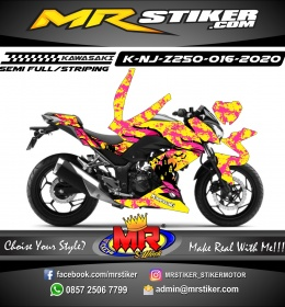 Stiker motor decal Kawasaki Ninja Z 250 Splat Hallowen Ghost House