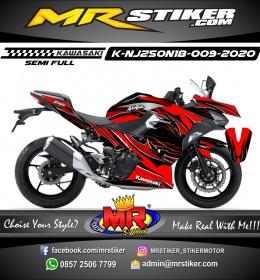 Stiker motor decal Kawasaki Ninja 250 AllNew 2018 DarkRed Hell AirBrush Grafis