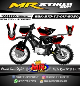 Stiker motor decal Yamaha Bebek Standar YZ Red Gray Track Adventure
