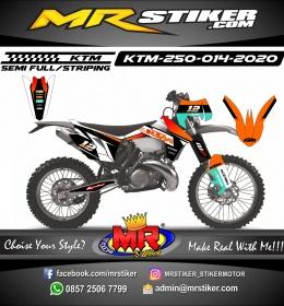 Stiker motor decal KTM 250 Orange Gradation and White Grafis Race