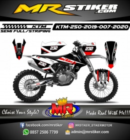 Stiker motor decal KTM 250 2019 White Red Grafis Adventure Trail