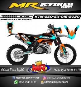 Stiker motor decal KTM 250 SX Neon Blue Grafis Orange Combine