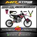 Stiker motor decal KTM 85 Grafis line Pink Green Stabillo Calor