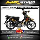 Stiker motor decal Suzuki Shogun RR Gold Grafis Race Line