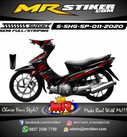 Stiker motor decal Suzuki Shogun SP Tribal Red Grafis Airbrush