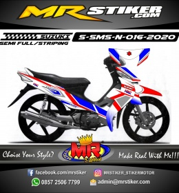 Stiker motor decal Suzuki Smash New Grafis HRC Spesial