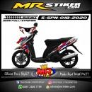 Stiker motor decal Suzuki Spin Red Grafis Racing Striping