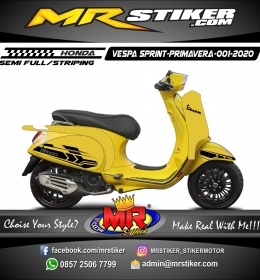 Stiker motor decal Vespa Sprint-Primavera Yellow Road Race