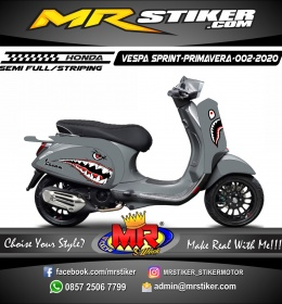 Stiker motor decal Vespa Sprint-Primavera Gray Bape