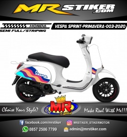 Stiker motor decal Vespa Sprint-Primavera White Rainbow Grafis