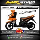 Stiker motor decal Yamaha Aerox Orange M1 Grafis