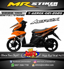 Stiker motor decal Yamaha Aerox Orange M1 Grafis