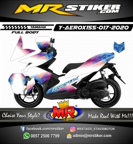 Stiker motor decal Yamaha Aerox 155 White WPAP Diamond