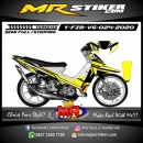 Stiker motor decal Yamaha Fiz R Racing Line Yellow Simple