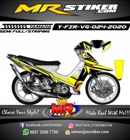 Stiker motor decal Yamaha Fiz R Racing Line Yellow Simple