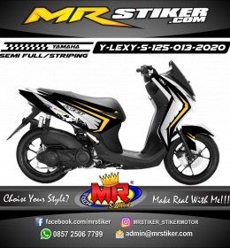 Stiker motor decal Yamaha Lexi 125 Gray Crack
