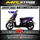 Stiker motor decal Yamaha Mio J Blue Racing Grafis
