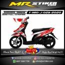 Stiker motor decal Yamaha Mio J Red Techno White