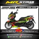 Stiker motor decal Yamaha NMAX Green Line Street Red