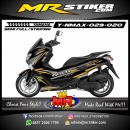 Stiker motor decal Yamaha NMAX Grafis Line Gray Combine Gold Color