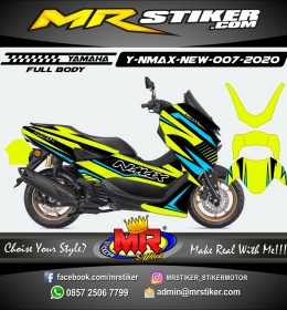 Stiker motor decal Yamaha NMAX New 2020 Line Grafis Stabillo Color (FULLBODY)