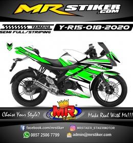 Stiker motor decal Yamaha R15 Green Line Racing Cool