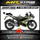 Stiker motor decal Yamaha R15 White Black Grafis Road Race