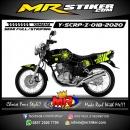 Stiker motor decal Yamaha Scorpio Z The Doctor SunMoon 46