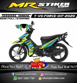 Stiker motor decal Yamaha Vega Force Line Color Stabillo Race Flag