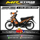 Stiker motor decal Yamaha Vega ZR Orange White Line Grafis