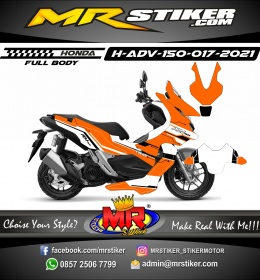 Stiker motor decal Honda ADV 150 FullBody Orange Grafis Race Tech