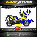 Stiker motor decal Honda ADV 150 FullBody Yellow Blue Line Sporty Race