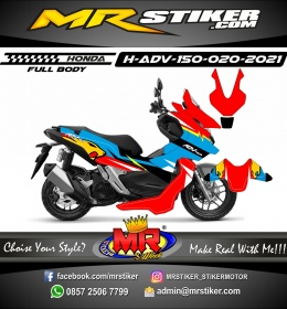 Stiker motor decal Honda ADV 150 FullBody MarchVds Grafis Racing