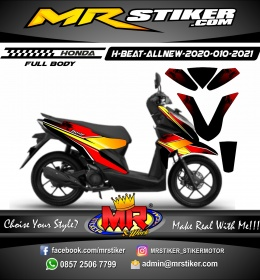 Stiker motor decal Honda Beat AllNew 2020 FullBody Modern Grunge Grafis