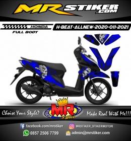 Stiker motor decal Honda Beat AllNew 2020 FullBody Skull Splatter