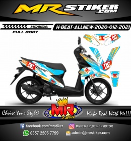 Stiker motor decal Honda Beat AllNew 2020 FullBody Snow DCshoes