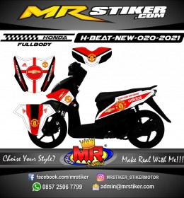 Stiker motor decal Honda Beat New Glory Manchester United FULLBODY