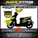 Stiker motor decal Honda Beat New Race Line Green Lime Simple FULLBODY