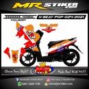 Stiker motor decal Honda Beat Pop FULLBODY Repsol Grafis