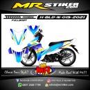 Stiker motor decal Honda Blade New Glasses Blue Grafis Race FullBody