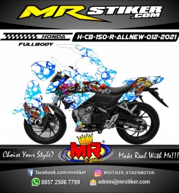 Stiker motor decal Honda CB 150 R All New Splash Zombie FullBody