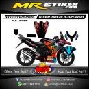 Stiker motor decal Honda CBR 150 Old FullBody KenBlock Monster Energy