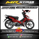 Stiker motor decal Honda Supra X 125 New Grid Red Grafis Line