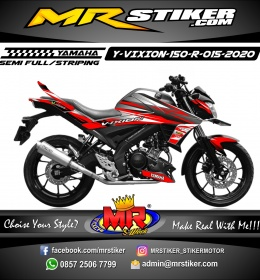 Stiker motor decal Yamaha Vixion R Red Grafis Glasses