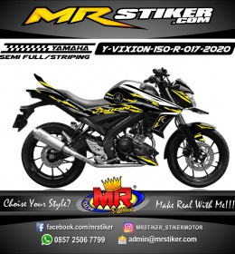 Stiker motor decal Yamaha Vixion R Black Grafis Yellow Splate