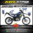 Stiker motor decal Yamaha WR 155 R Navy Blue Line Orange Race