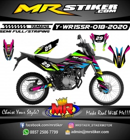 Stiker motor decal Yamaha WR 155 R Line ColorFul Grafis